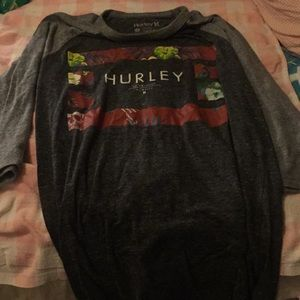 Hurley quarter sleeve t shirt